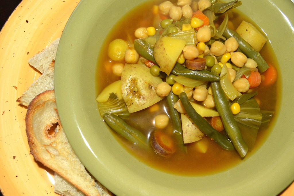 Vegetable soup with toast points.jpg