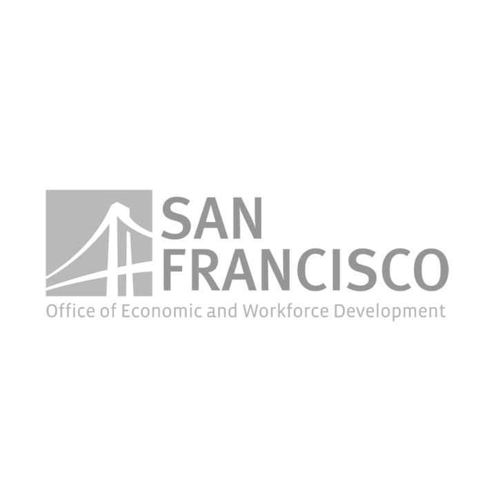San Francisco Office of Economic and Workforce Development Logo with FISF Fashion Incubator San Francisco