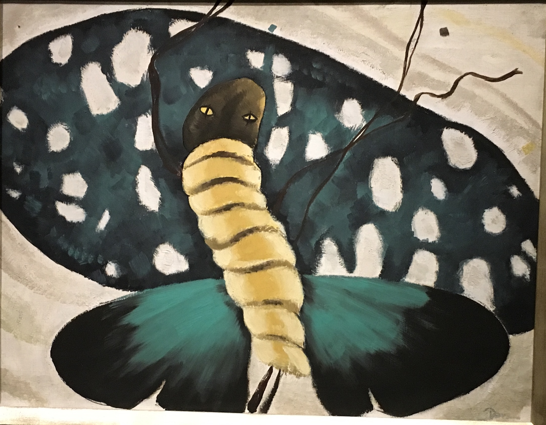 """Moth Dance"" by Arthur Dove. Photo taken at the National Gallery of Art."