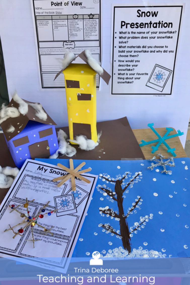 MakerSpace Moments in Literature: Winter Snow Scene {Snow}