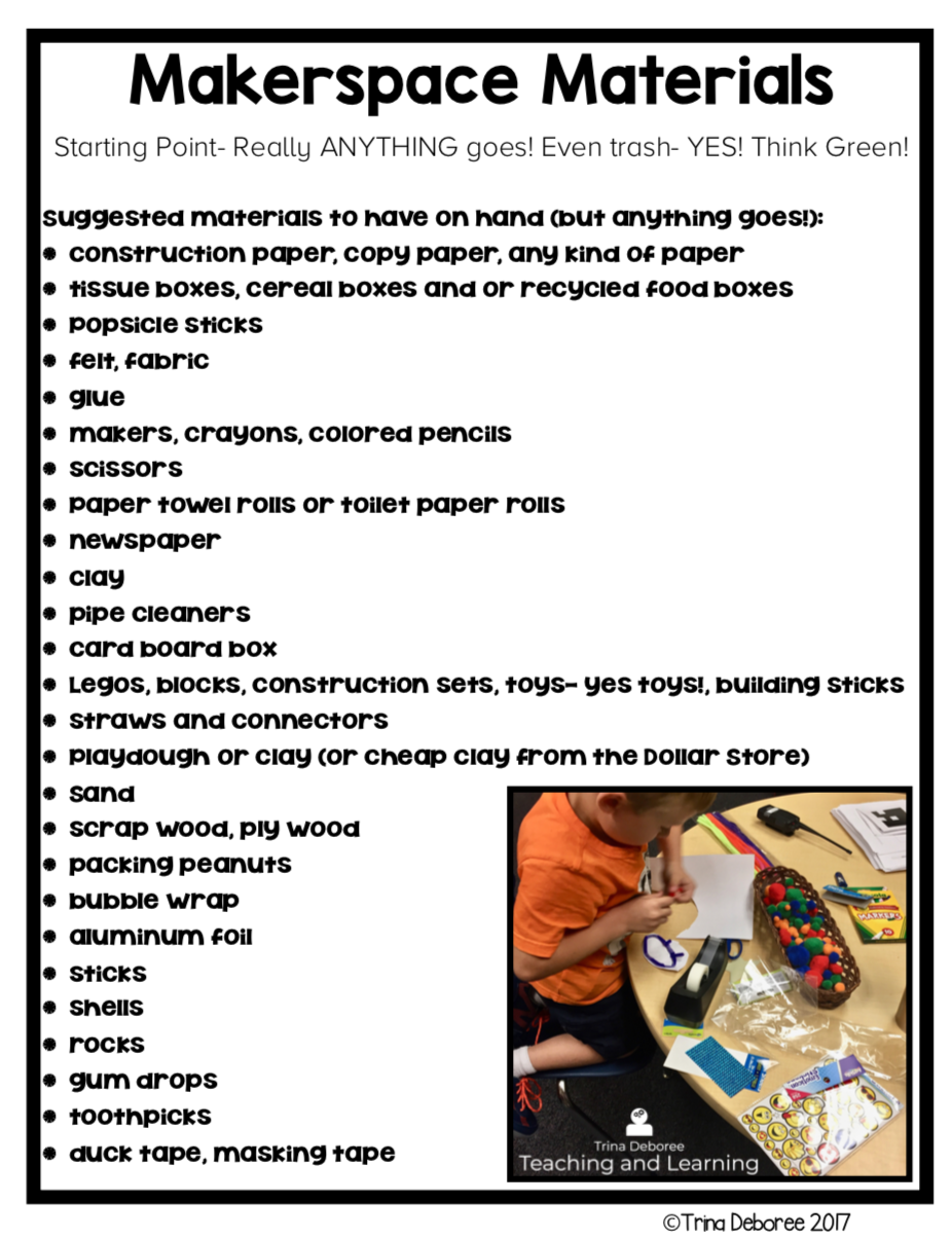 MakerSpace Materials Starting Point