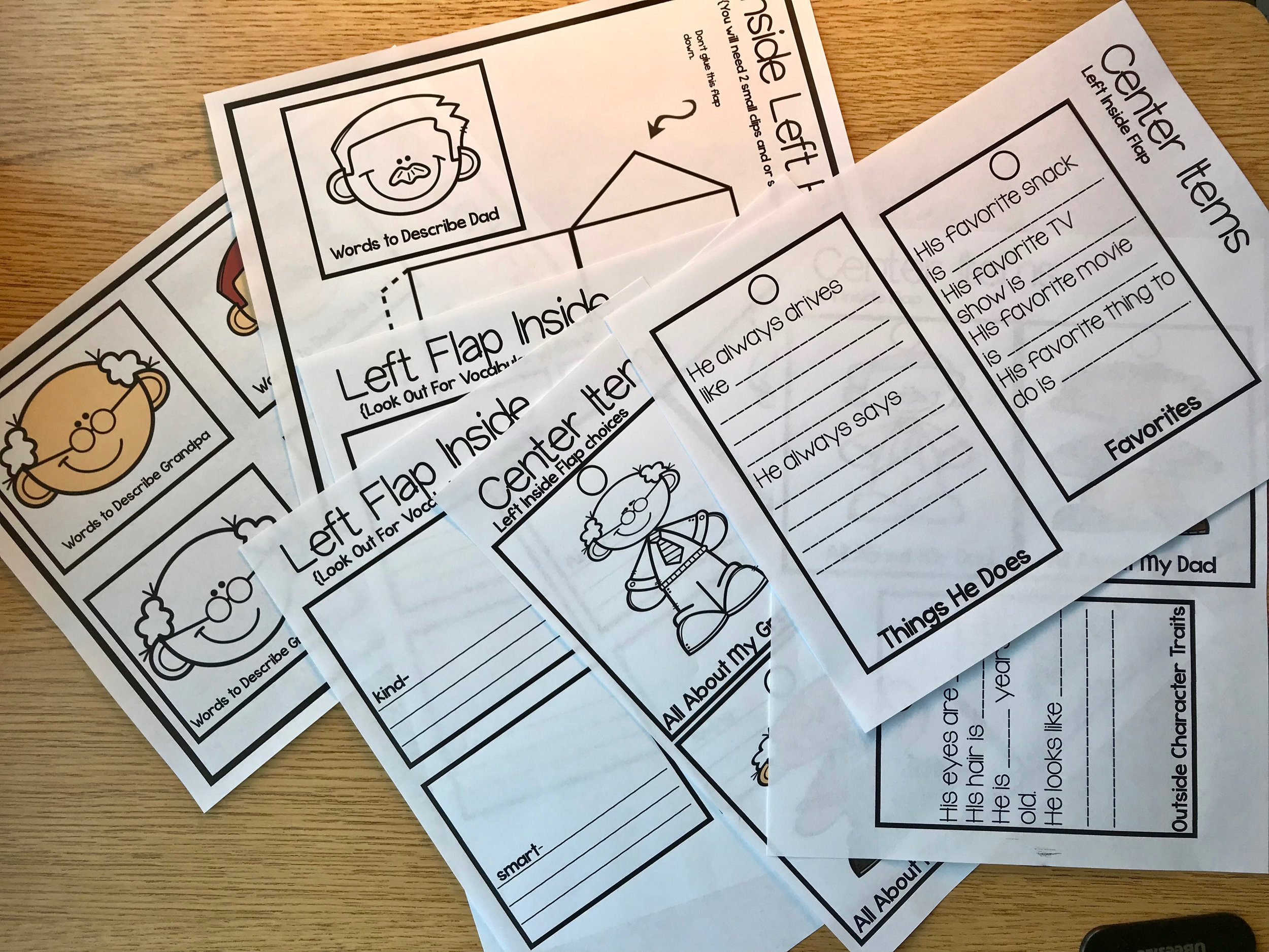 Fabulous Father's Day Craft for Kids to Make Print the pages and choose