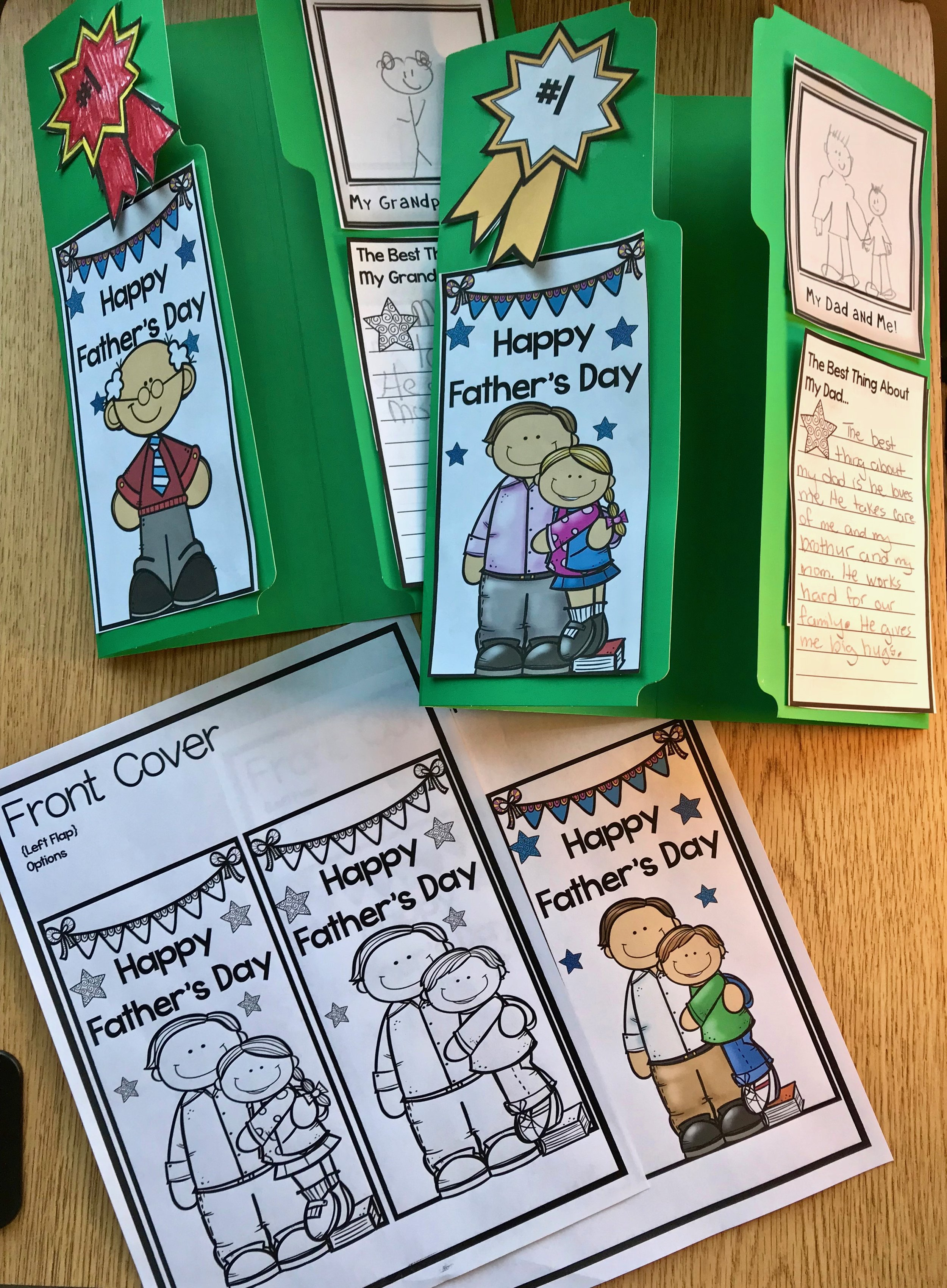 Fabulous Father's Day Craft for Kids to Make Put together the cover with choices