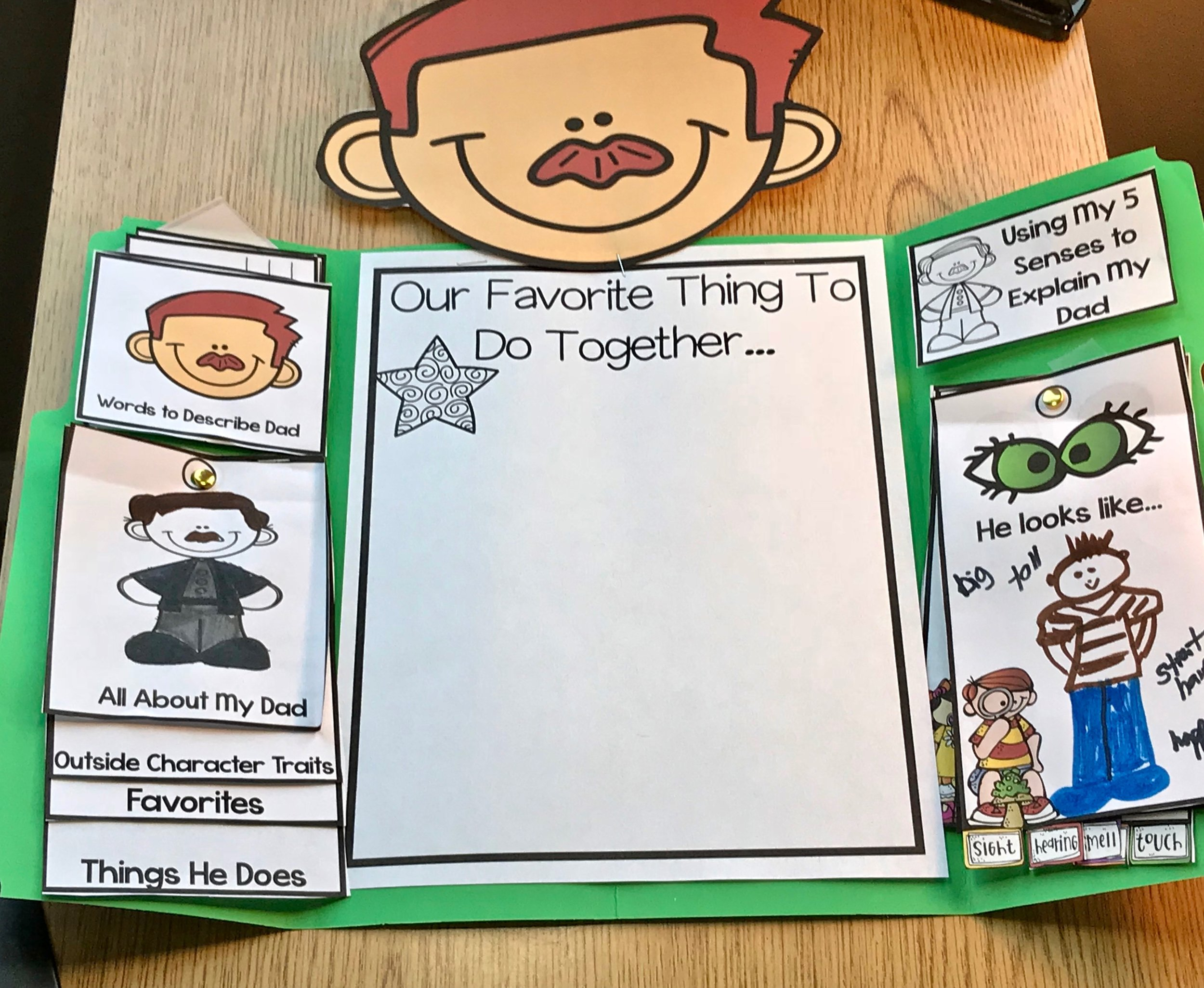 Fabulous Father's Day Craft for Kids to Make Add the Head
