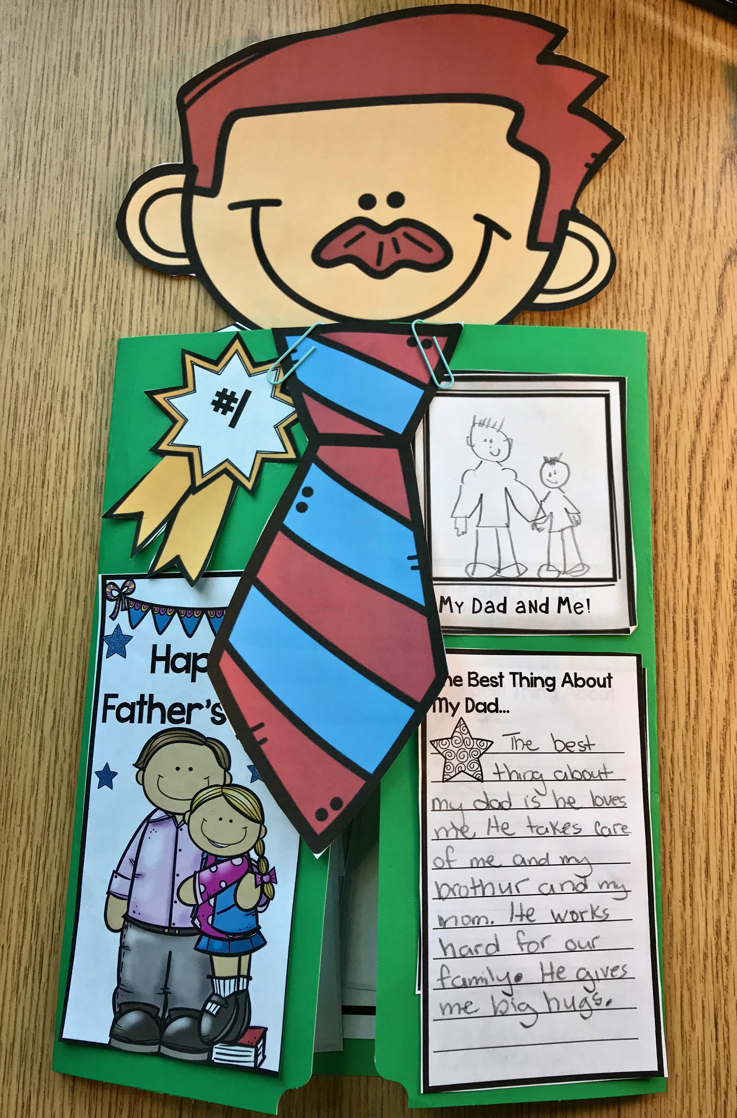 Fabulous Father's Day Craft for Kids to Make Finished Product