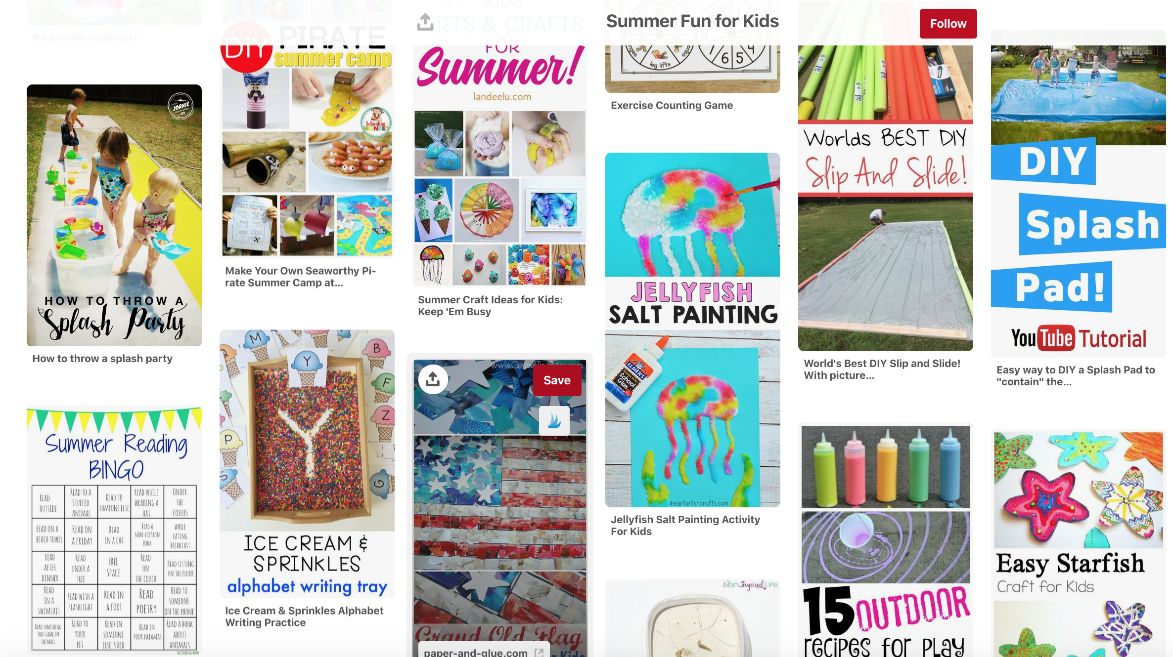 Fun ideas that you can do over the summer! This board has a lot of outside ideas and fun games for kids.