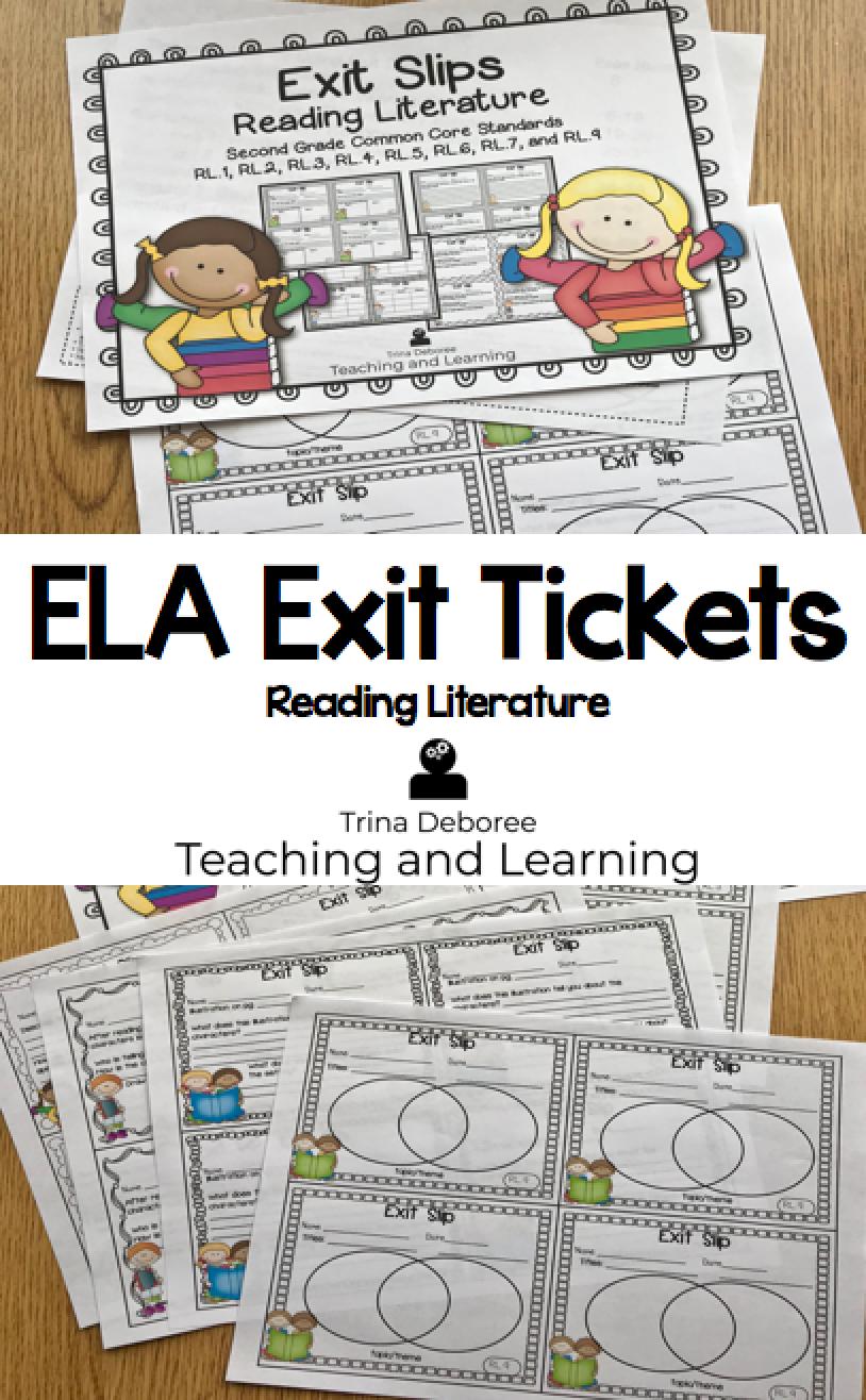ELA Exit Tickets Reading Literature