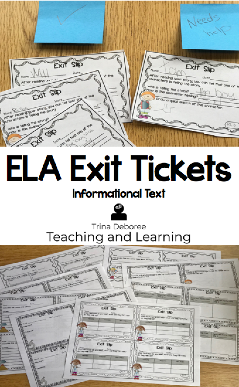 Exit Tickets Informational Text