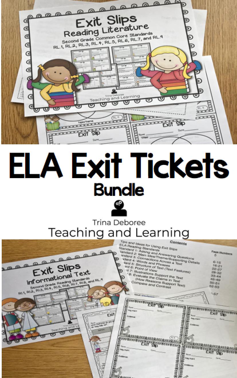 ELA Exit Ticket Bundle