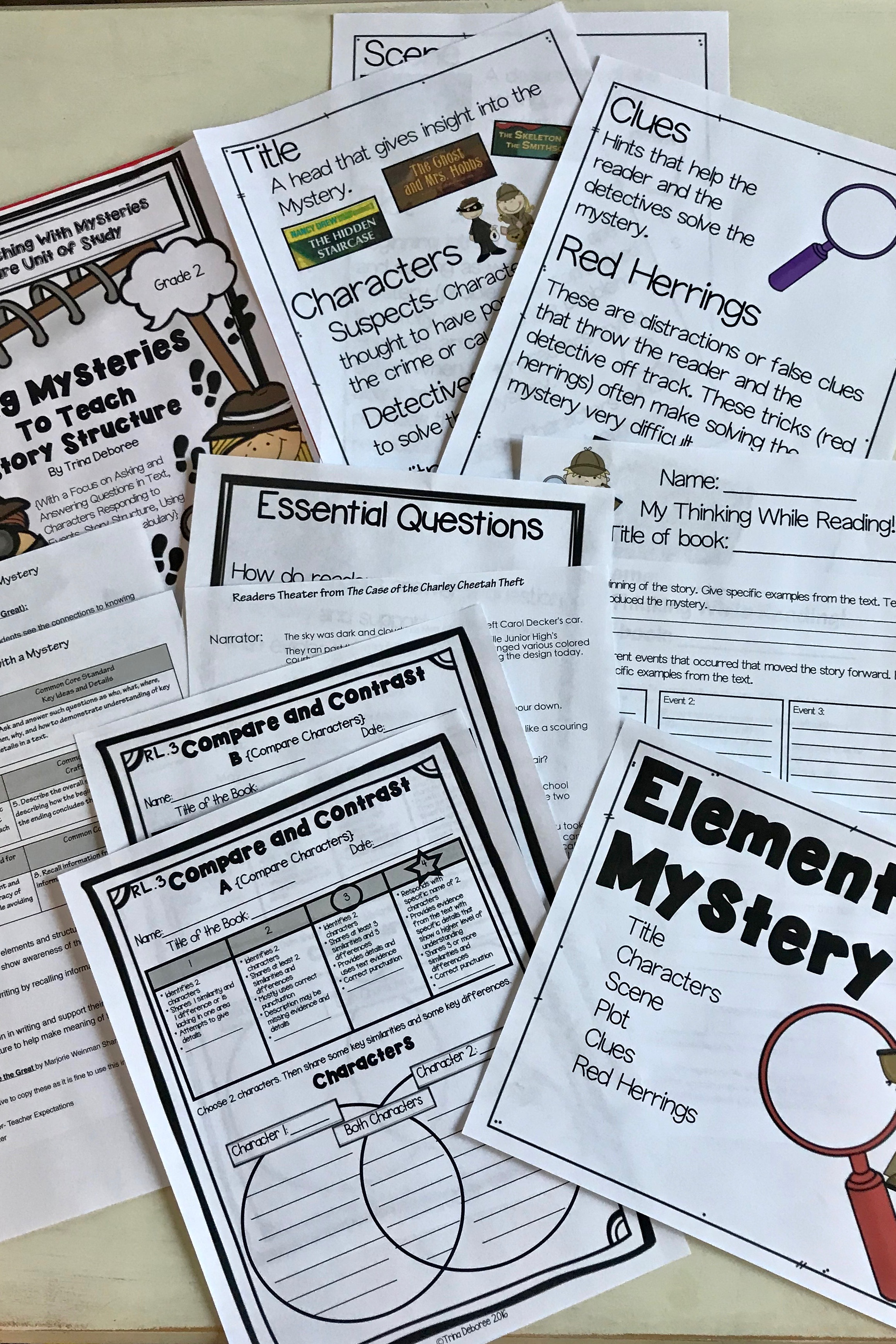 Reading Unit of Study Mysteries