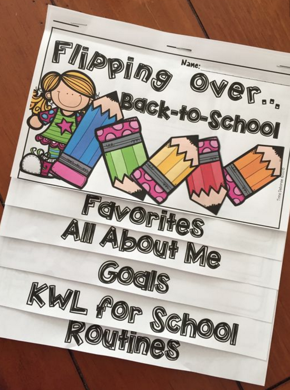Back-to-School Free Flip book