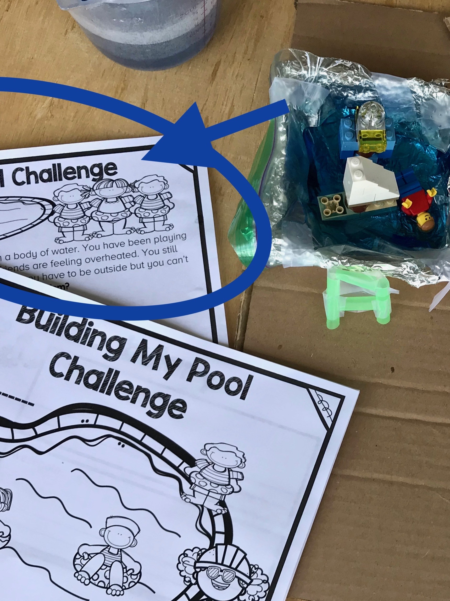 Free Summer Challenge Card: Build a Pool