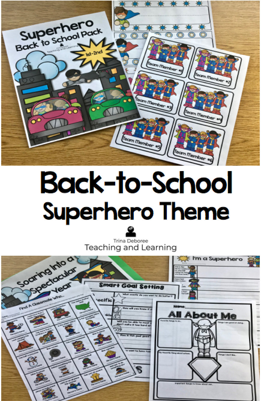 Superhero Themed Back to School Pack takes off on a new learning adventure! If you are ready to plan for next year and start your year off with a great beginning, then this back to school pack is for you!