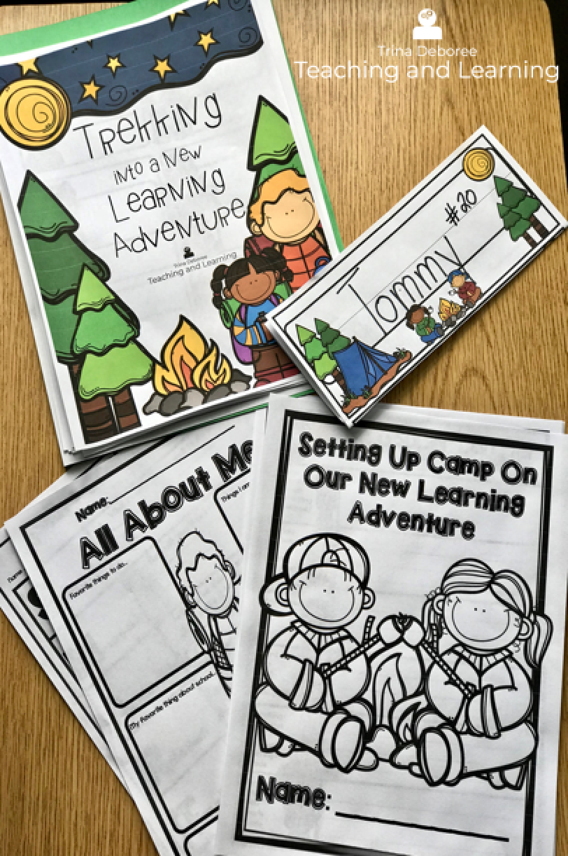 Back-to-School Camping Pack filled with ideas for classroom decor, back-to-school lessons, and activities