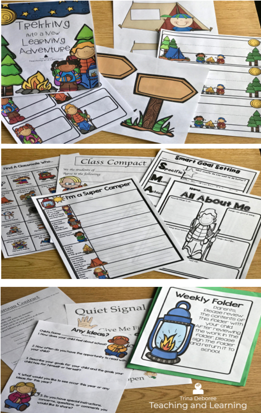 Back-to-School Camping Pack filled with ideas for classroom decor, back-to-school lessons, and activities.