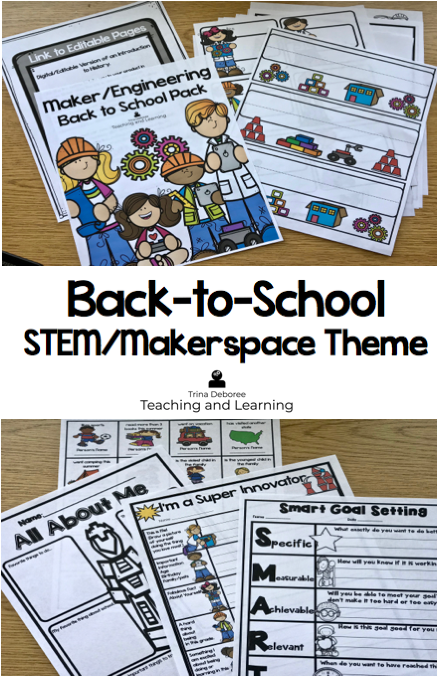 STEM or Makerspace back-to-school theme for kids is fun and provides all the necessary supplies for teachers. Back-to-school makerspace theme provides organization for teachers with classroom decor, open house, and the beginning of the year activities. Welcome your students back with an innovative theme! #backtoschool #backtoschoolorganization #backtoschoolideas #backtoschoolSTEMtheme #backtoschoolmakerspacetheme #backtoschoolopenhouse