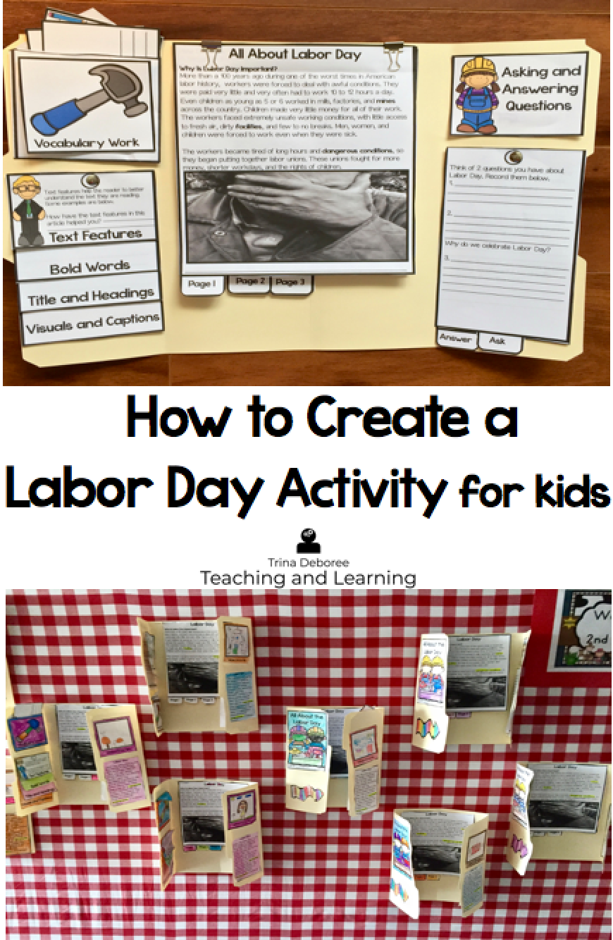 How to Create a Labor Day Activity for Kids #laborday #labordayactivity #labordaycraft #labordayprintable #labordaylapbook