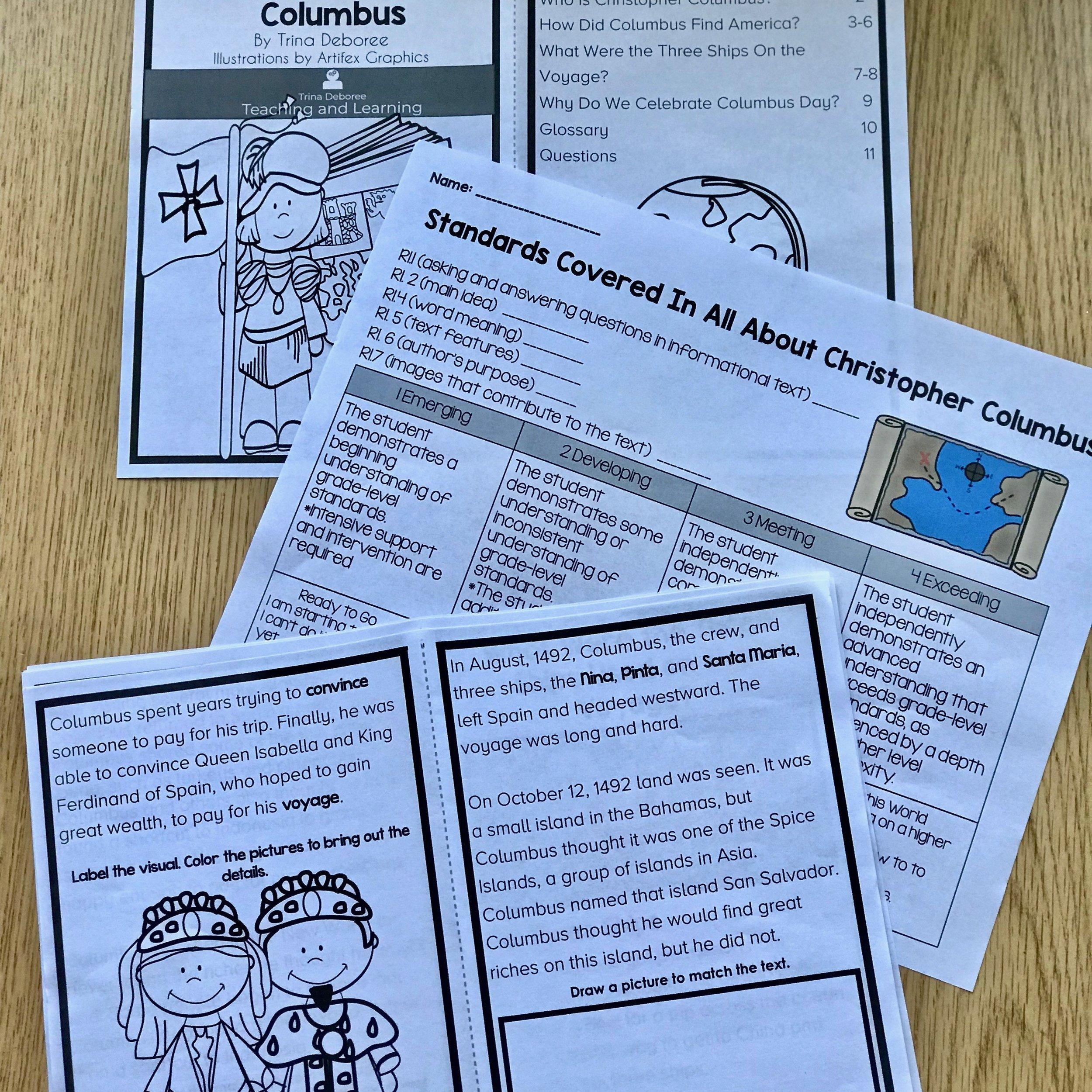 Christopher Columbus reader #christophercolumbus #christophercolumbusactivities #christophercolumbuscraft #christophercolumbusfacts #christophercolumbushistory #christophercolumbusprojects #christophercolumbusprintables