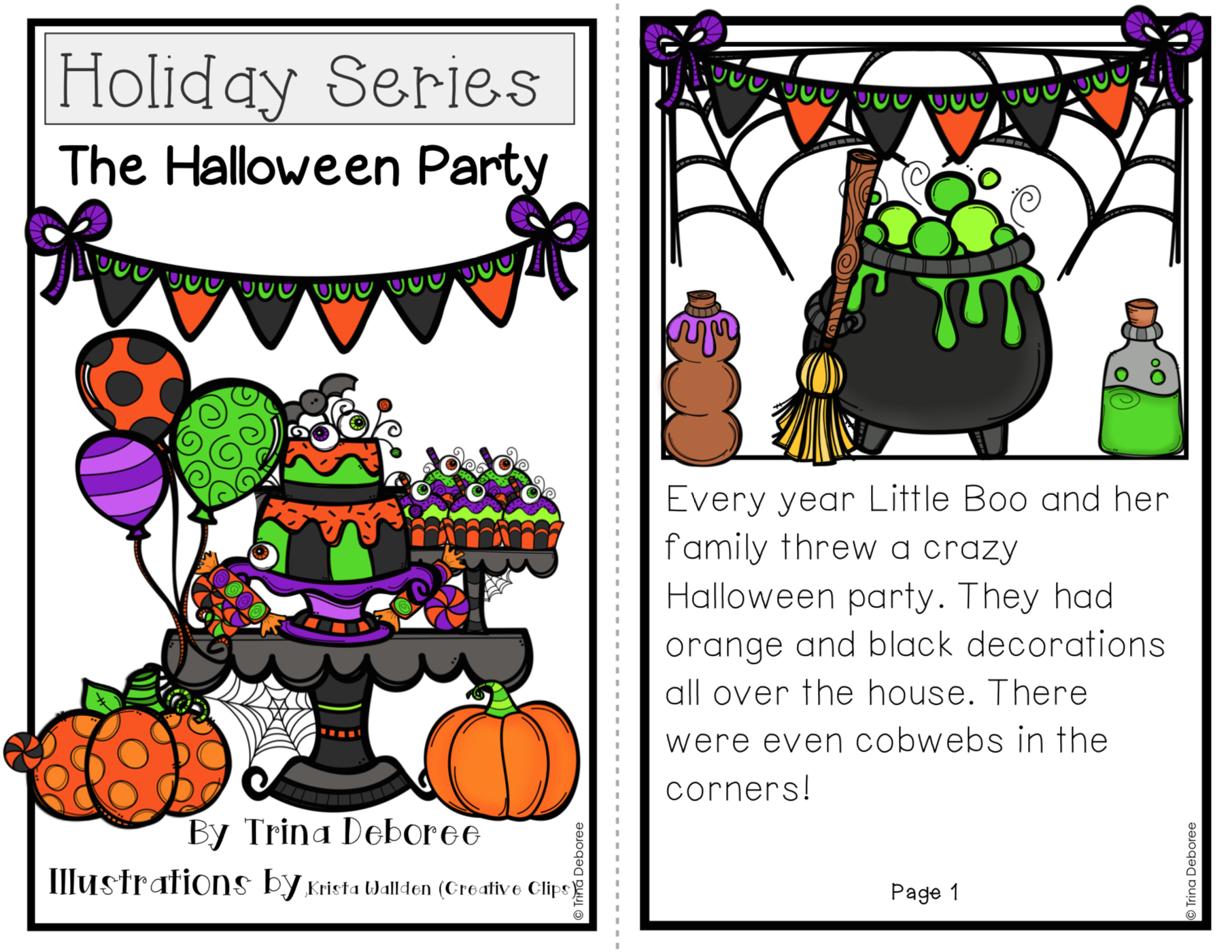 The Halloween Party Halloween Reader #halloweenreader #halloweenactivities
