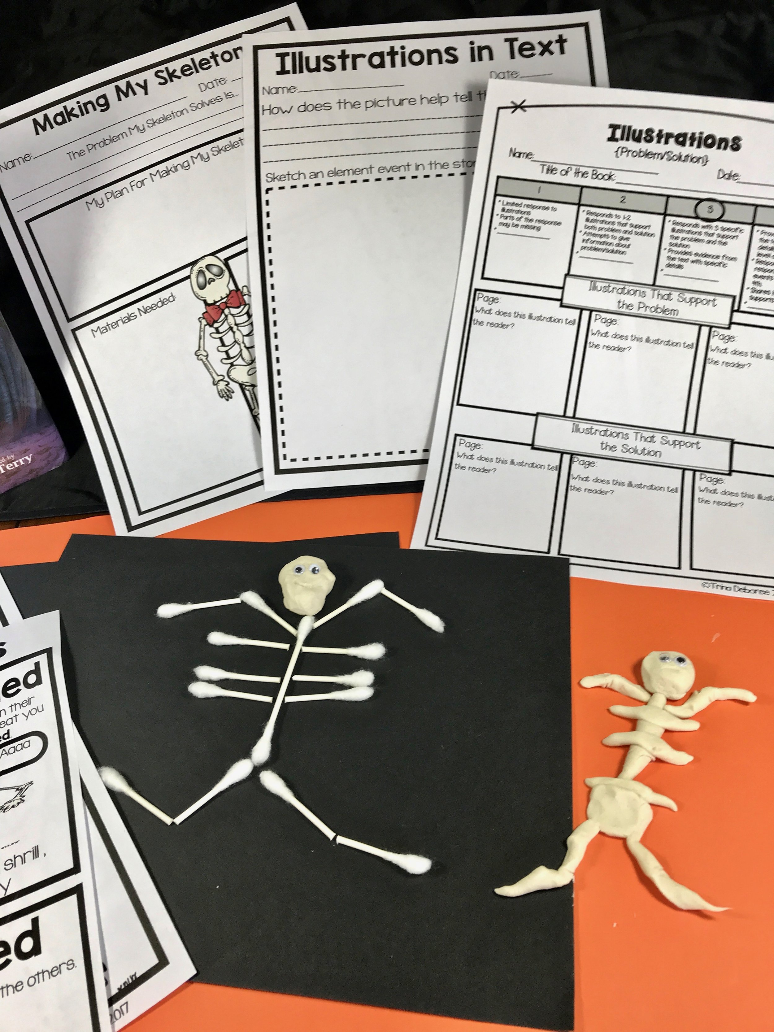 Halloween Makerspace/STEm extension. #halloweenactivities #halloweenstem #halloweenreaders