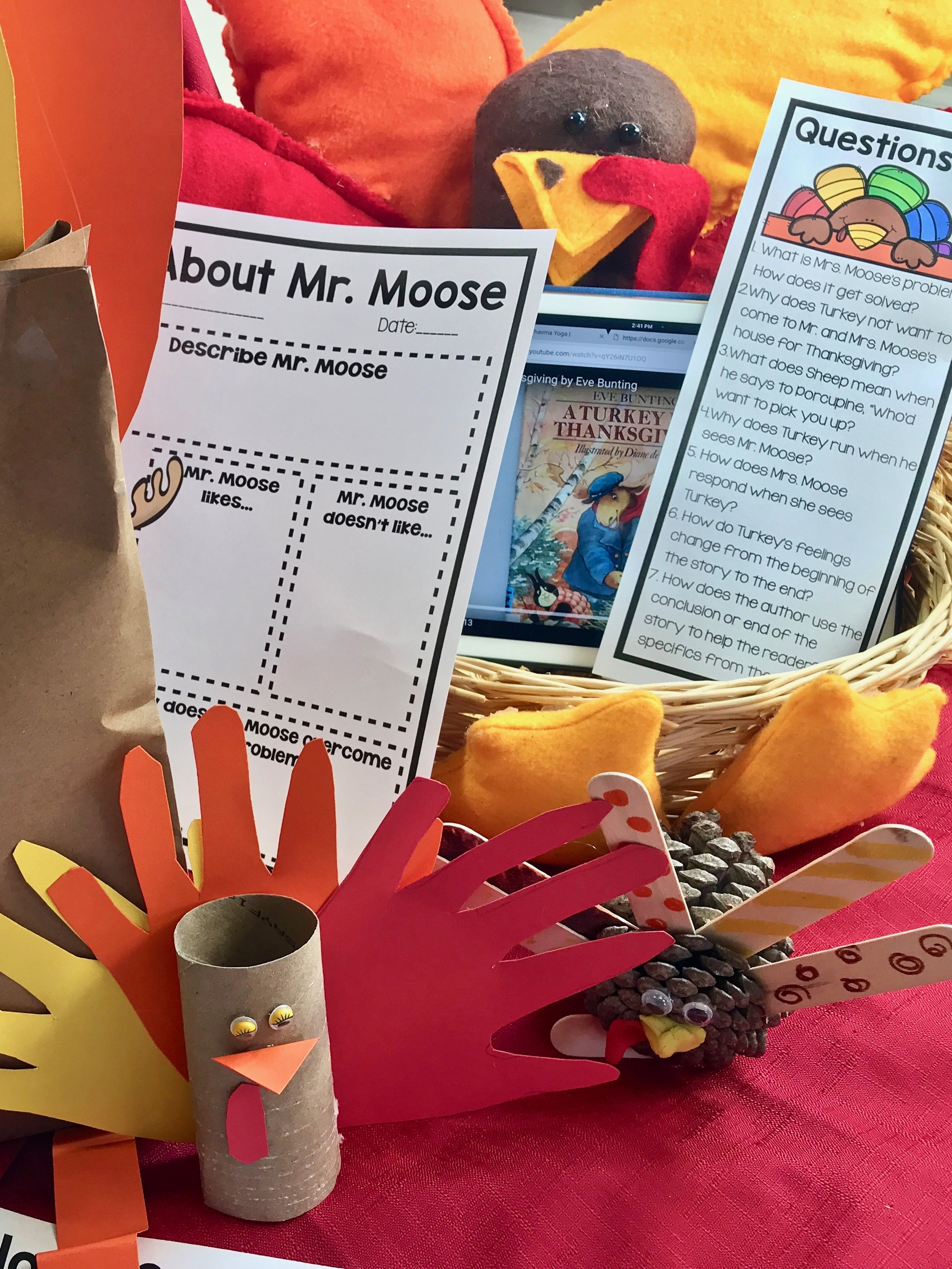 Thanksgiving Makerspace: A Turkey For Thanksgiving #thanksgivingactivities