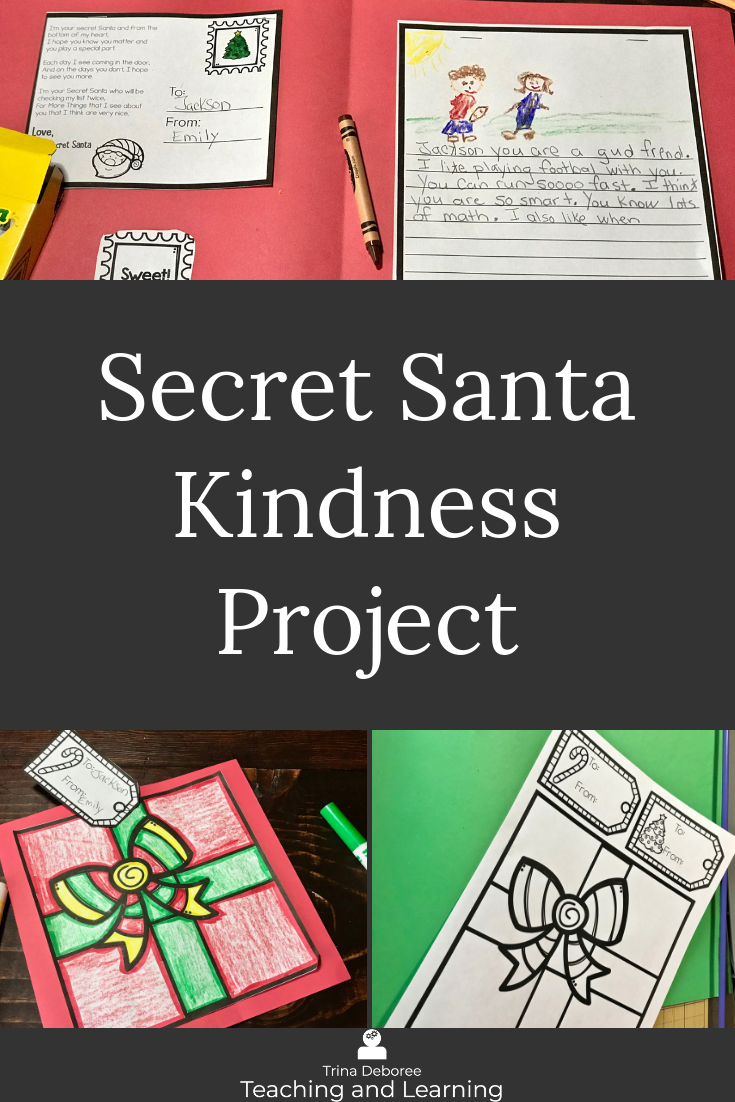 Secret Santa Kindness Project allows children to play Santa and add kindness to a time where they are thinking a lot about themselves. Children will also experience the gift of giving. #christmasactivities