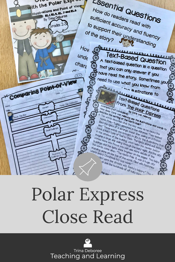 Polar Express Close Read #christmasactivities