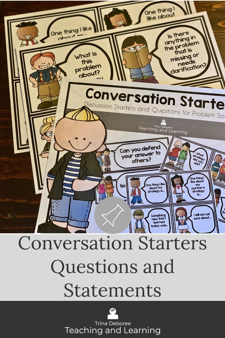 Sentence starters and Question Stems are perfect for math talks and engaging conversations in reading and writing workshop, as well as all subjects. Question stems allow children to experience higher order thinking and are a powerful tool to use in the elementary classroom. #numbertalks #conversationstarters #questionstems