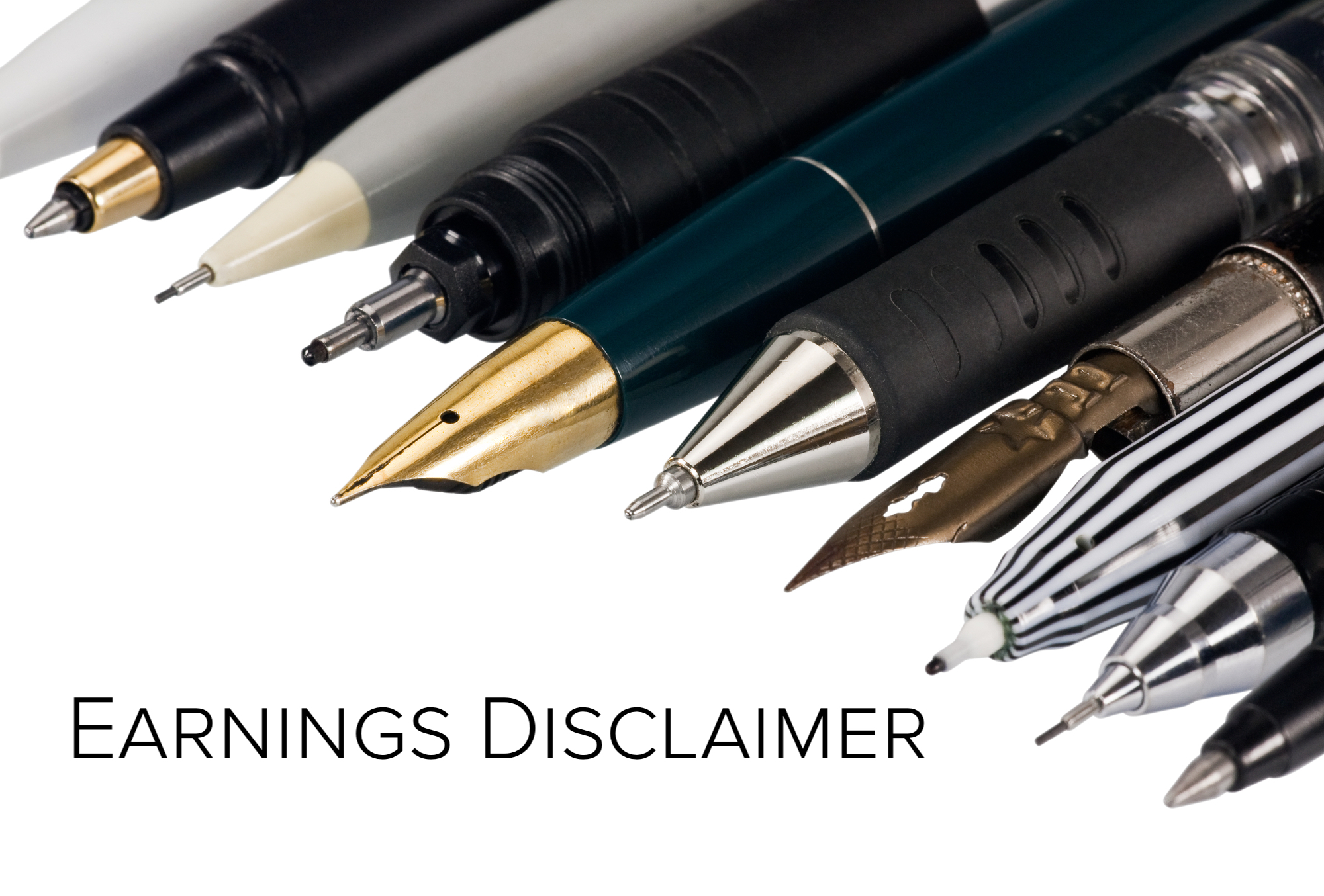 various fountain pens, ball pens and pencils