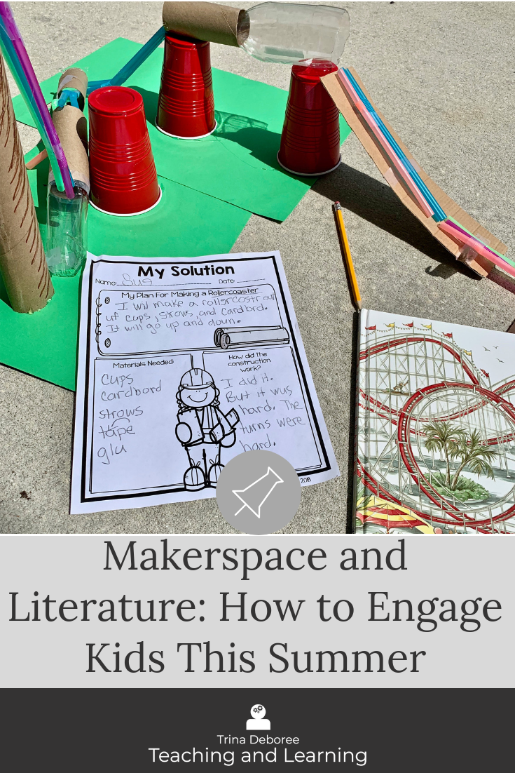 Makerspace and literature for the summer #makerspace #makerspacemomentsinliterature #summermakerspace