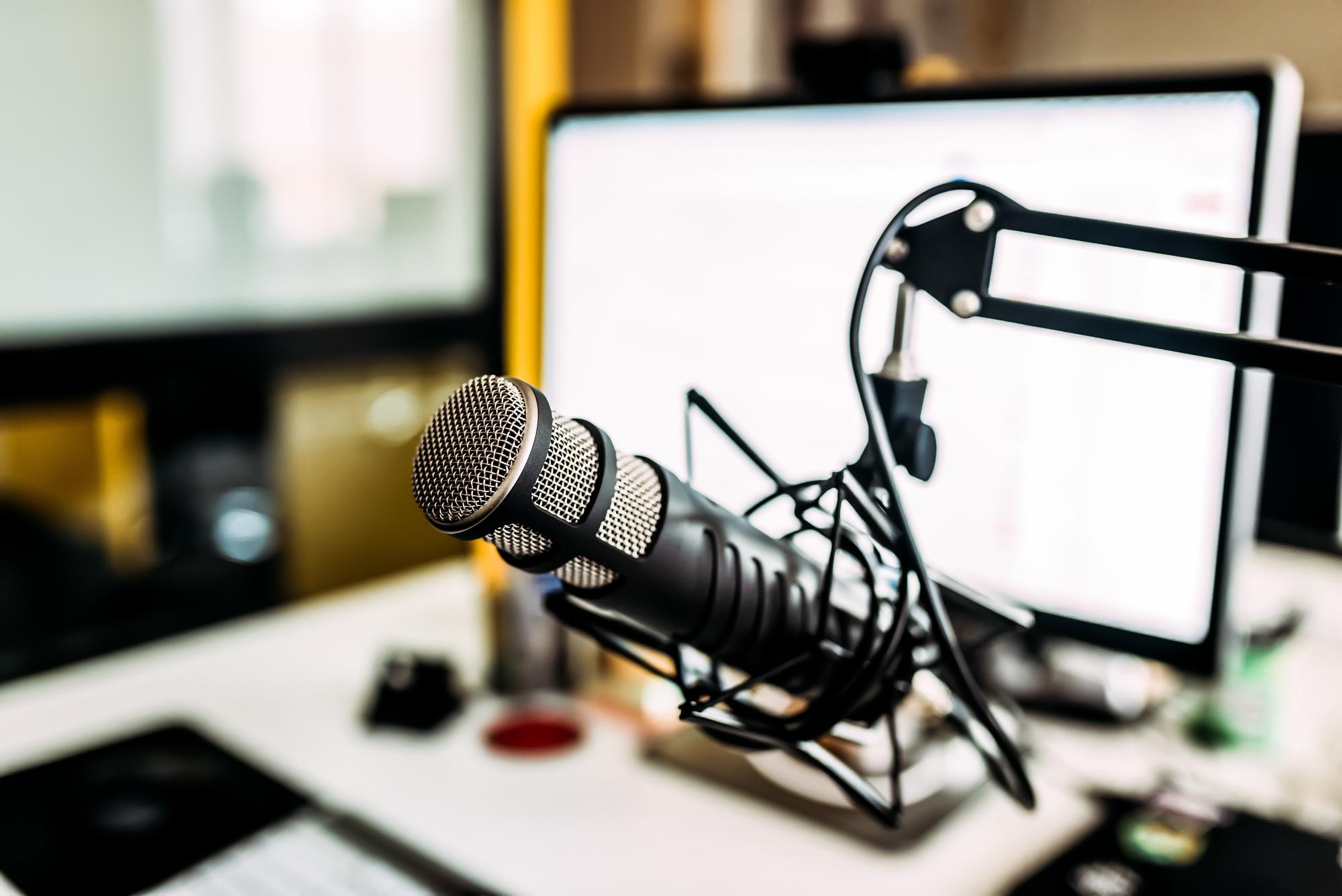Microphone in home studio.