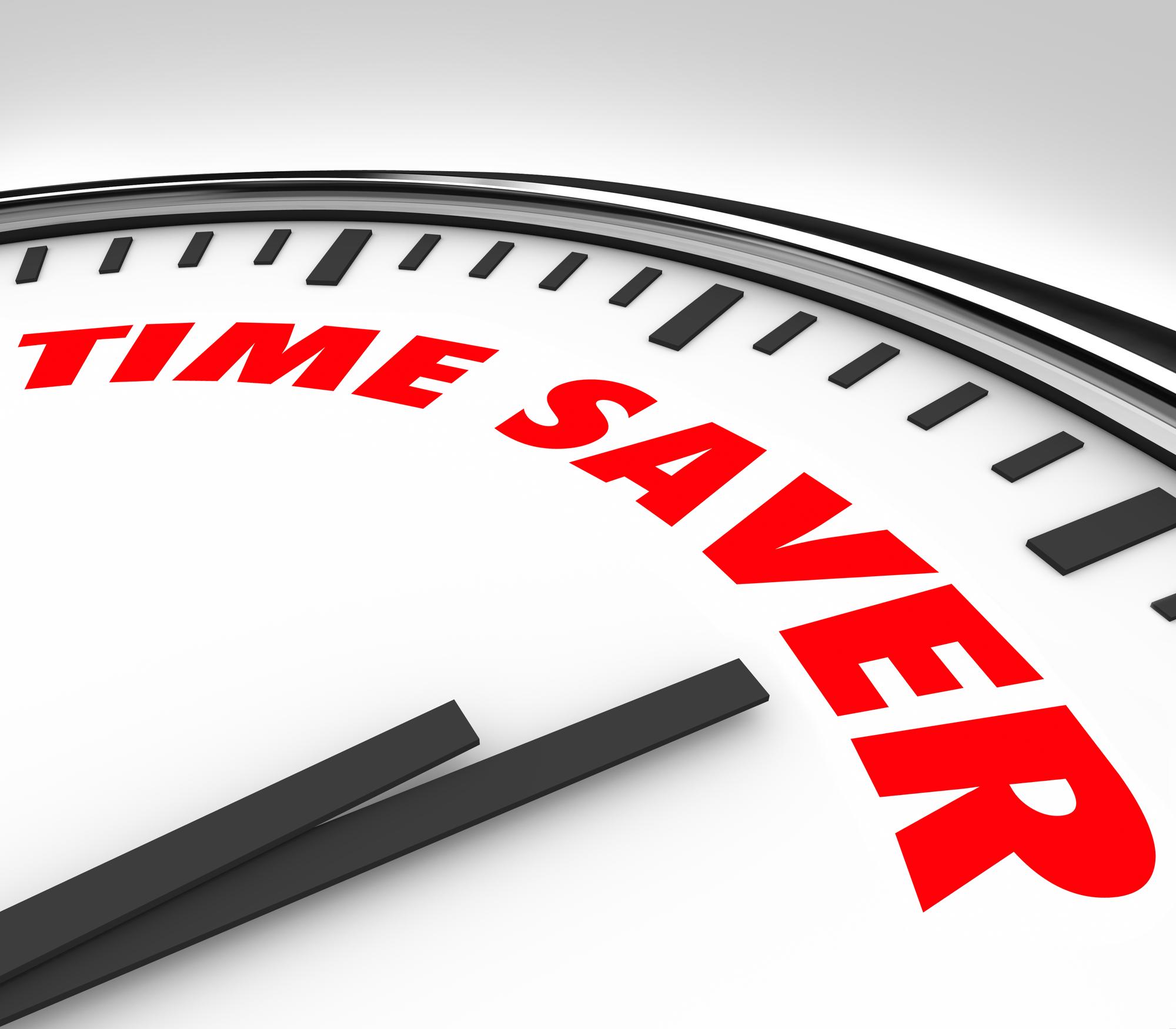 Time Saver Clock Words Efficient Productive Work Advice