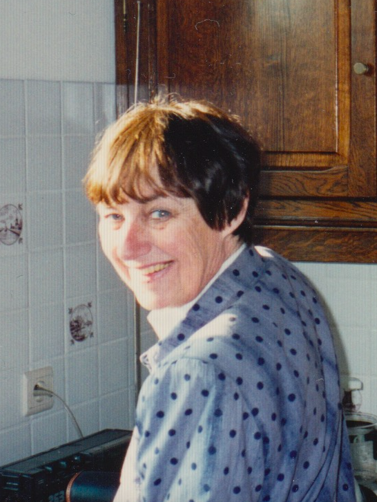 My mother in the 1990's, when we had our last moments of contact. She sent me this photo to show the new home where she had just moved.