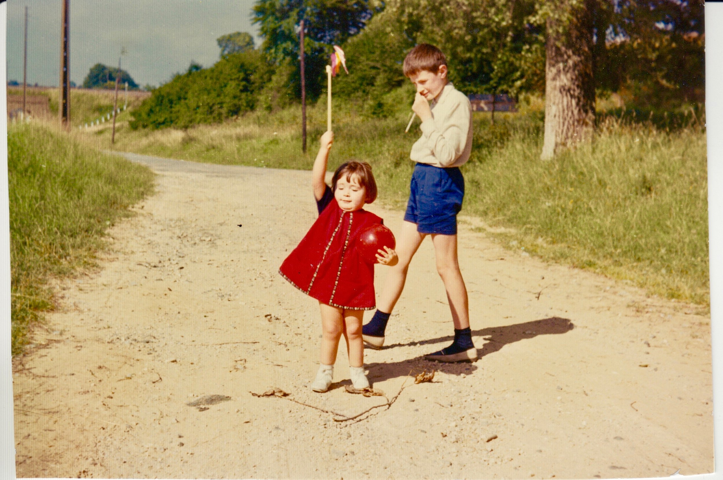 Age one, with my uncle in Pin-Izelles in Belgium, 1964