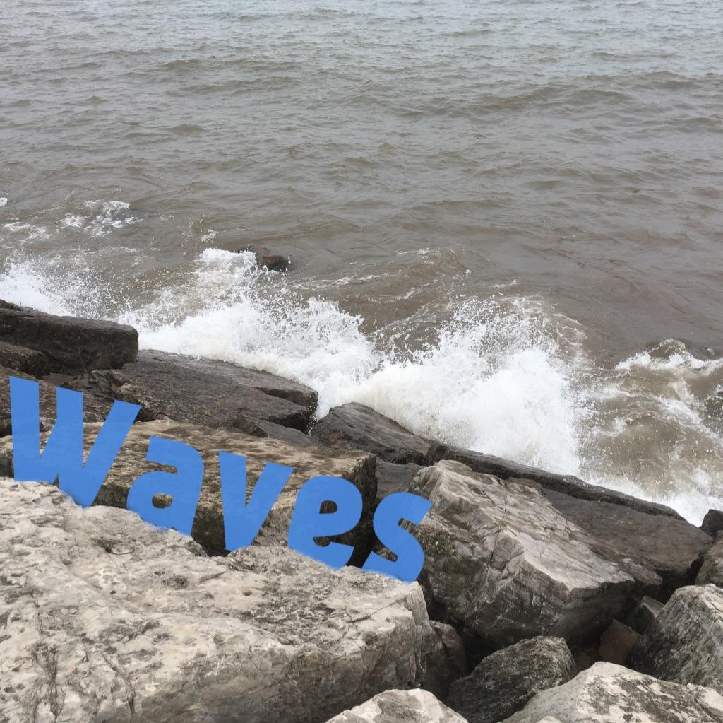 waves on a lake.