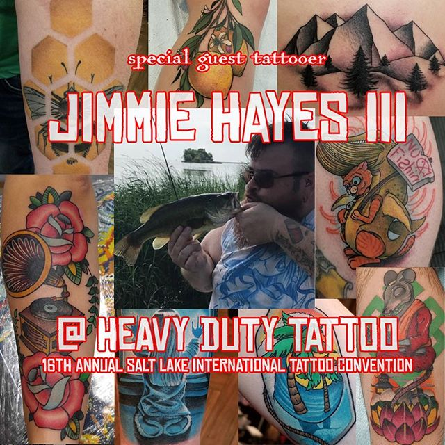 @jimmiehayestattoos will be with us at the @slctattoo_convention Feb 22nd to 24th