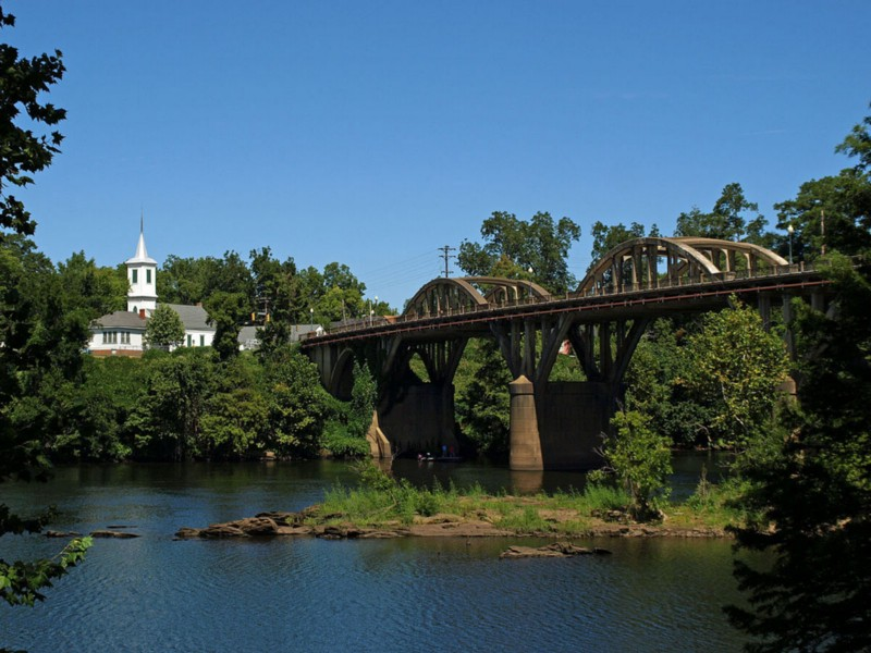 Bibb Graves Bridge and First Presbyterian Church in Wetumpka, AL Photo credits to Matt Futral