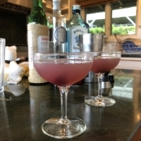 Aviation Cocktail - We enjoyed this beautiful and delicious cocktail with homemade brandied cherries and is a great way to kick off the weekend.