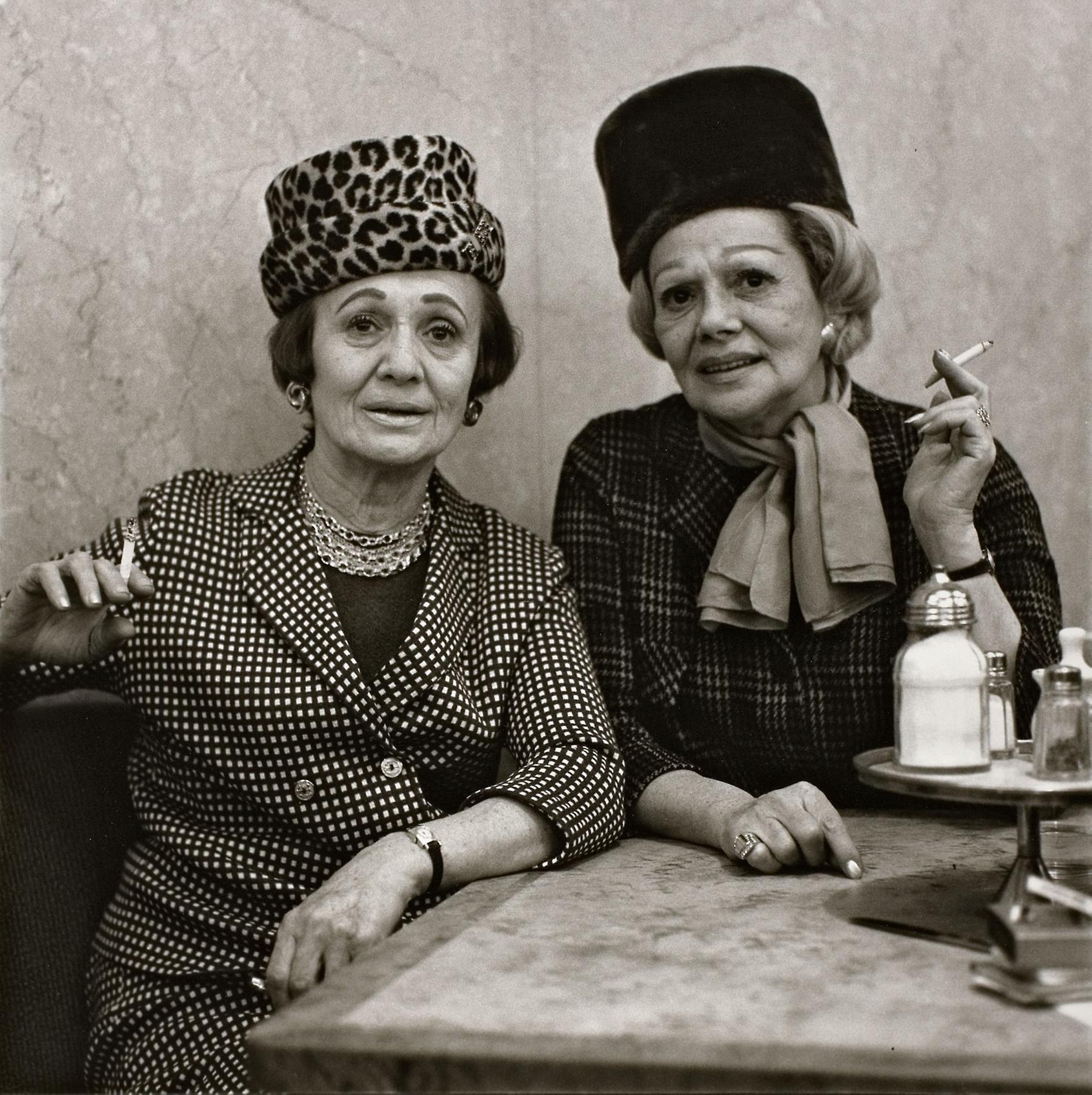 two ladies at the automat  - diane arbus