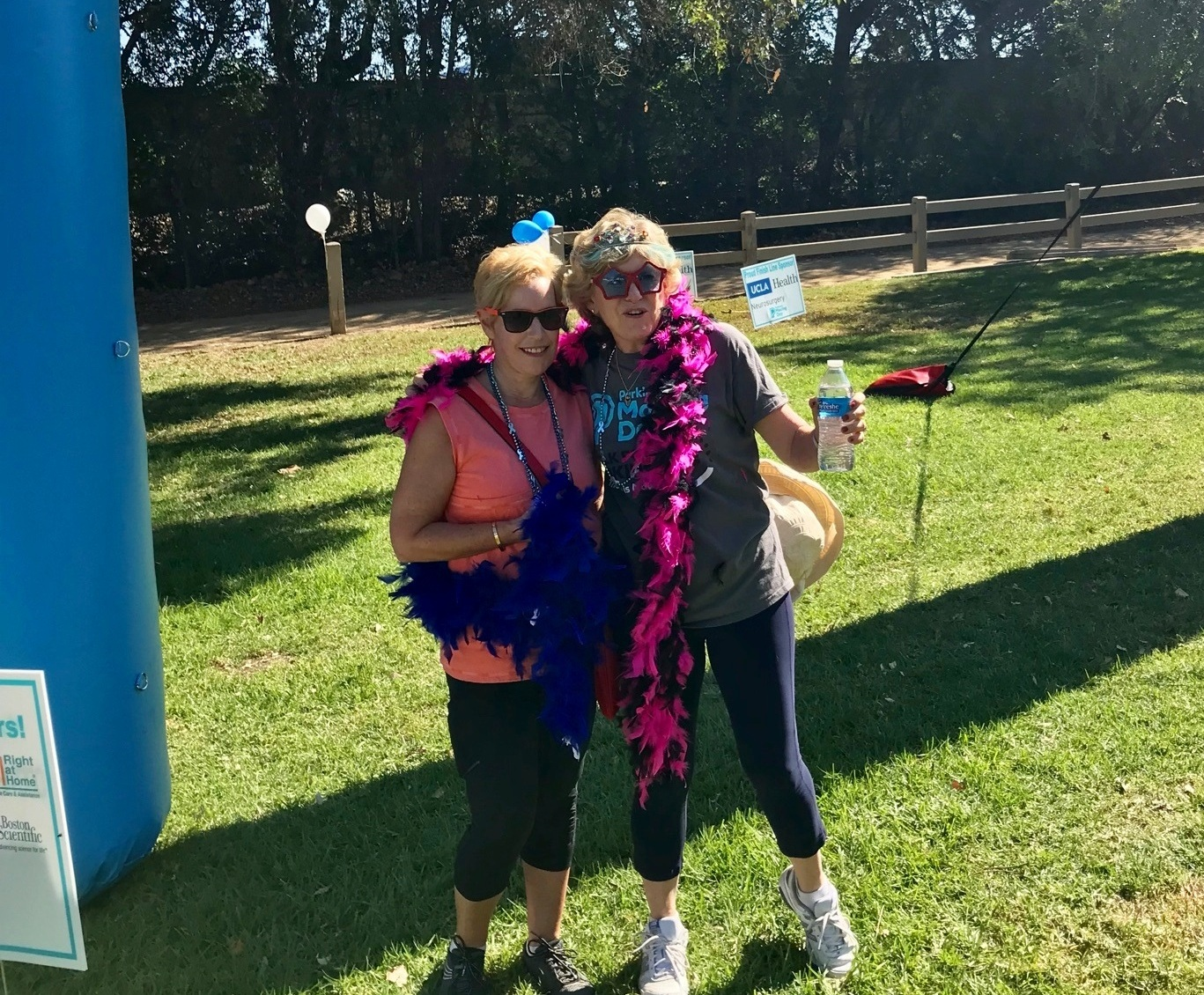 Sharon & marilyn, stylish at the parkinson's moving day walk