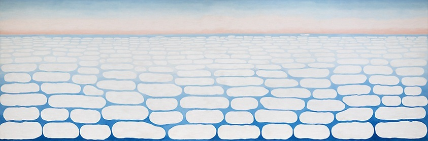 sky above clouds iV - georgia o'keefe