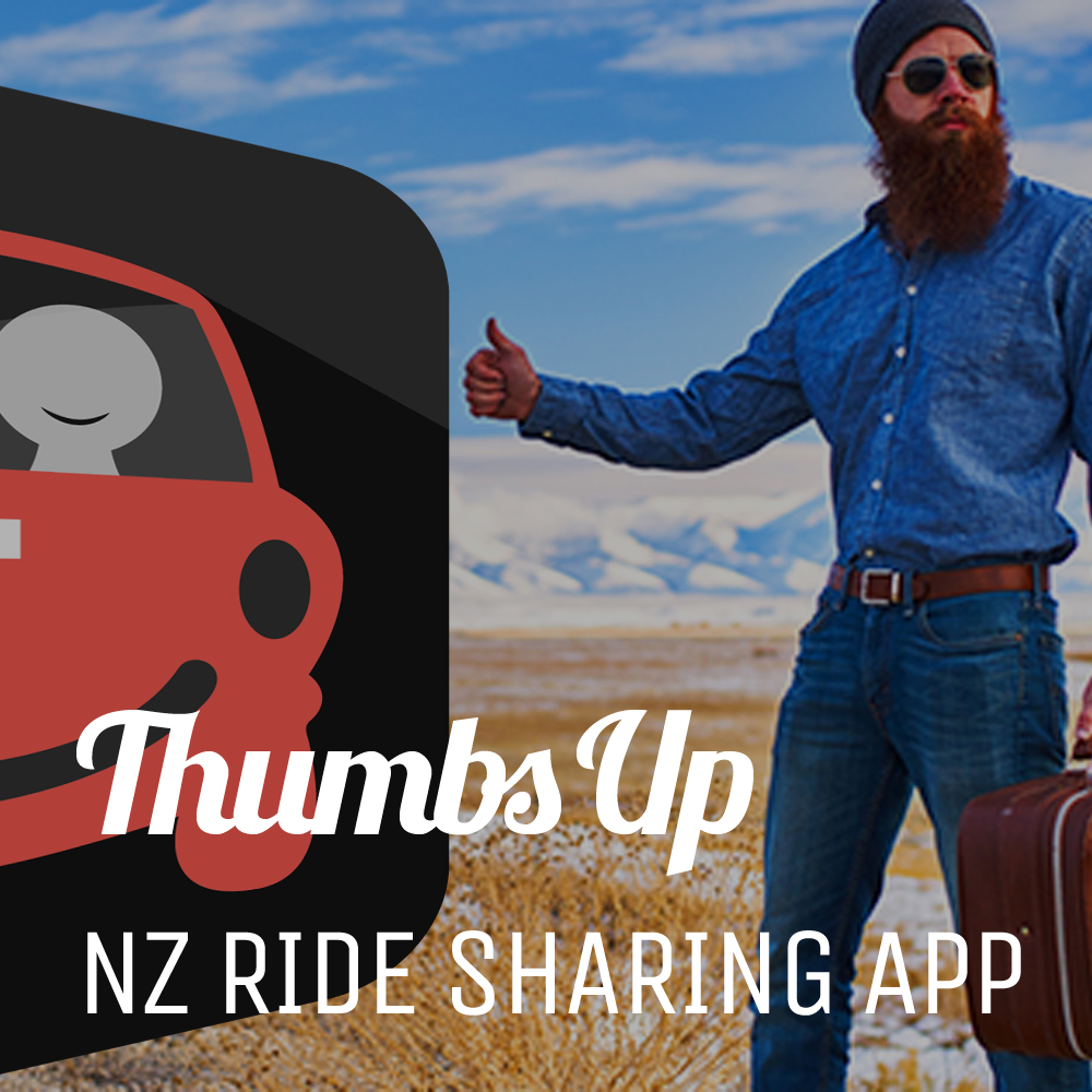 Thumbs Up - Thumbs Up App is a free ride-sharing App connecting drivers and passengers.thumbsup.nz
