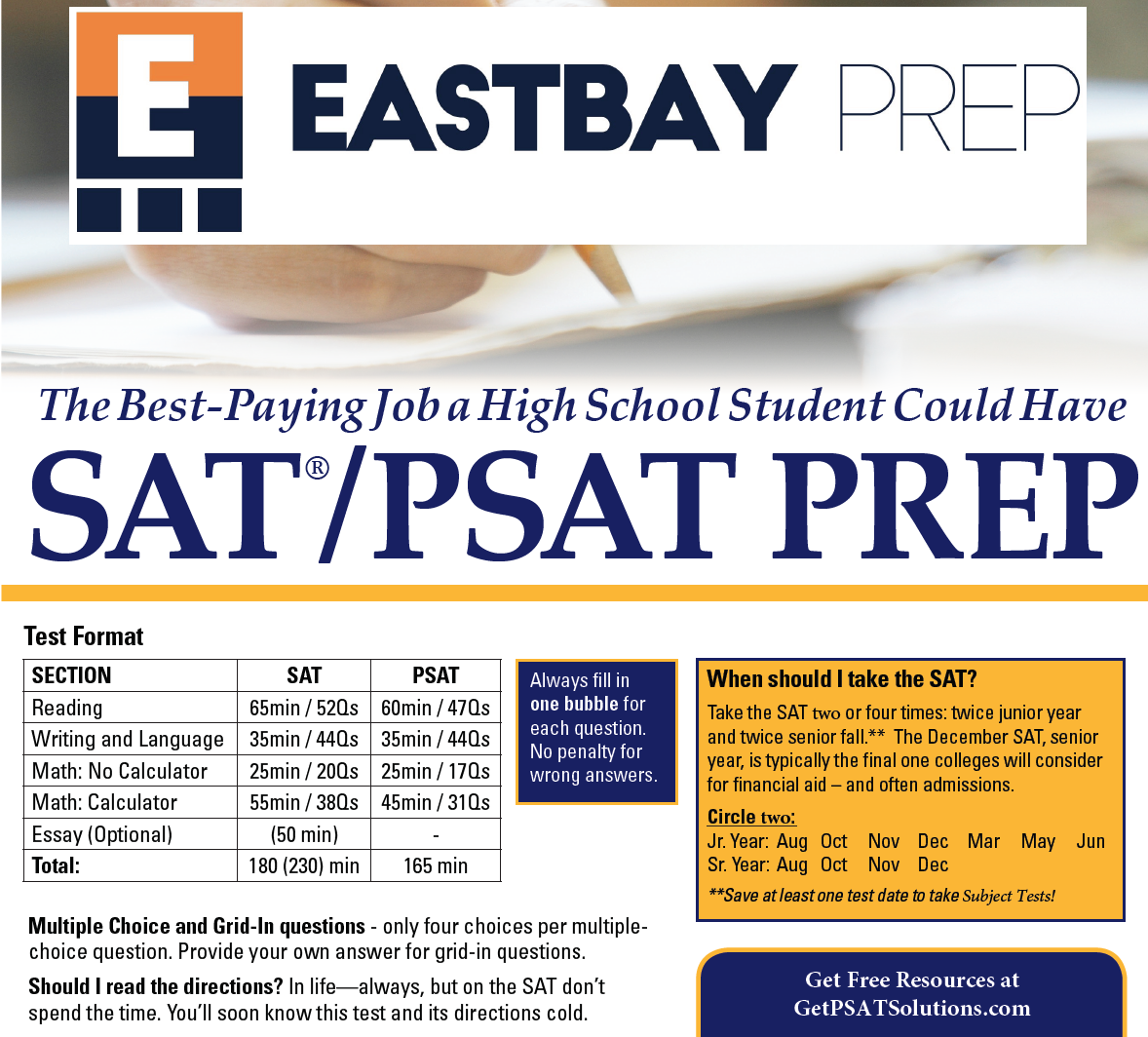 PSAT Shortcuts - Download this short PDF with Grammar Rules and Math Formulas