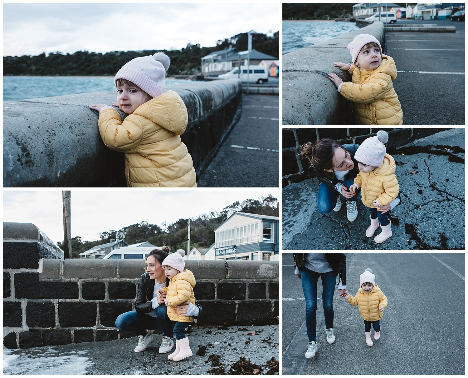 black rock family outdoor photography session, toddler bayside portrait