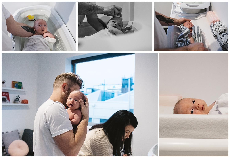 baby third trimestre pregnancy and newborn portrait