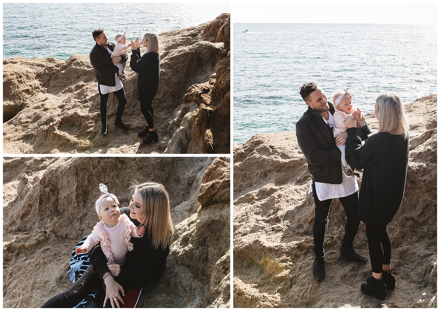 rugged cliffs in rosebud are perfect for family portraits