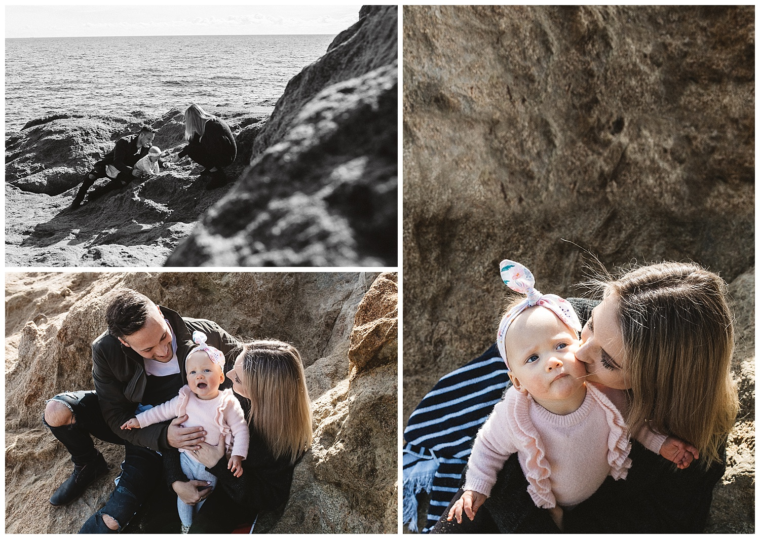 elwood beach is a great location for your baby portraits and candid moments
