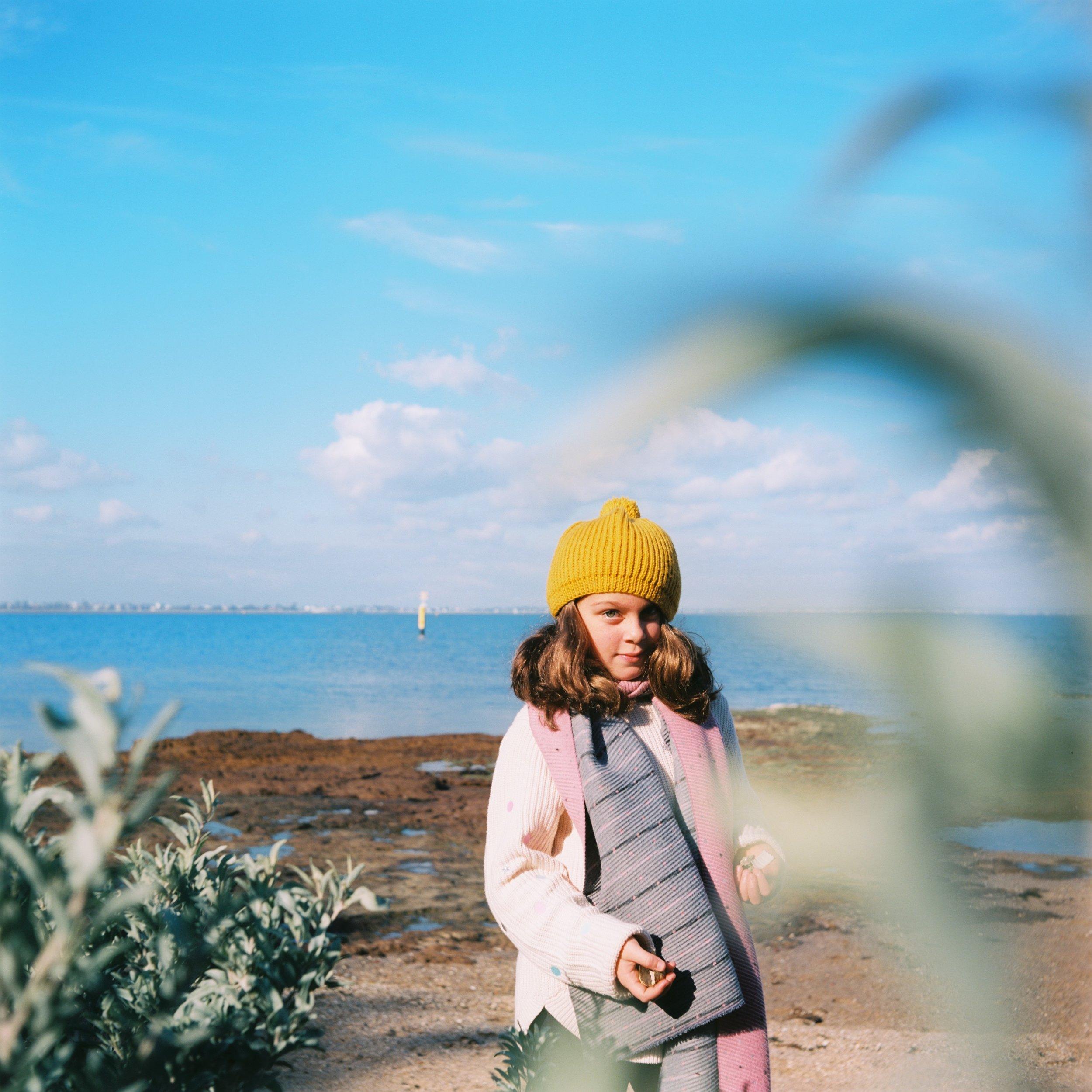 Black rock beach lifestyle family photographer and children portrait