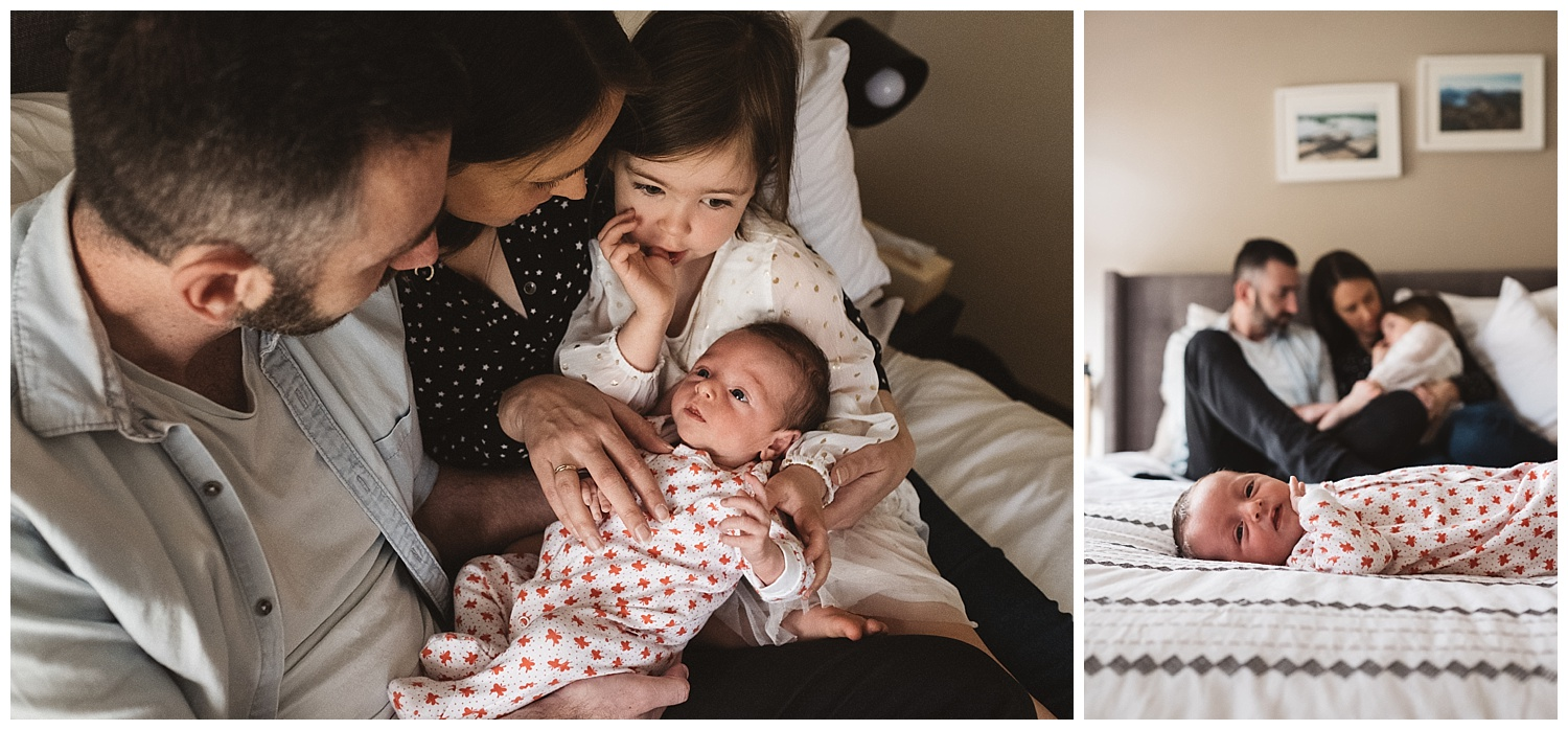 Kew maternity and lifestyle family portraits and baby photographer at home