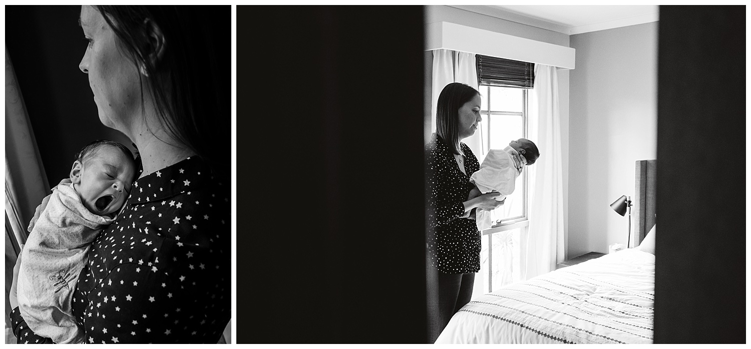 Newborn baby at home and lifestyle photography sessions in Yarraville